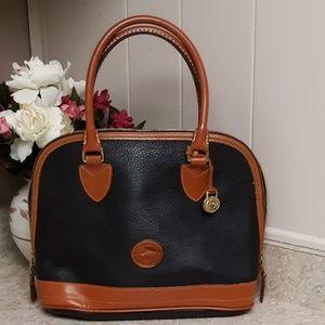 VTG Black & Tan Dooney & Bourke AWL Pebble Bag